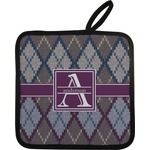Knit Argyle Pot Holder (Personalized)