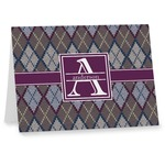 Knit Argyle Note cards (Personalized)
