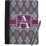 Knit Argyle Notebook Padfolio (Personalized)