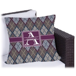 Knit Argyle Outdoor Pillow (Personalized)