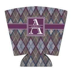 Knit Argyle Party Cup Sleeve (Personalized)