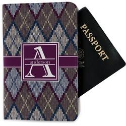 Knit Argyle Passport Holder - Fabric (Personalized)