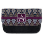 Knit Argyle Canvas Pencil Case w/ Name and Initial
