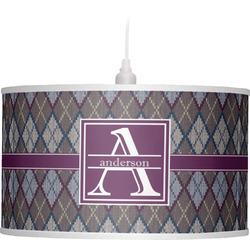 Knit Argyle Drum Pendant Lamp (Personalized)