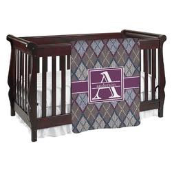 Knit Argyle Baby Blanket (Personalized)