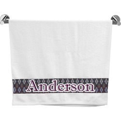 Knit Argyle Bath Towel (Personalized)
