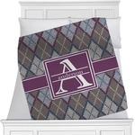 Knit Argyle Minky Blanket (Personalized)