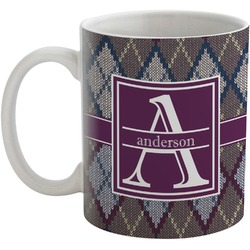 Knit Argyle Coffee Mug (Personalized)