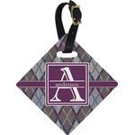 Knit Argyle Diamond Luggage Tag (Personalized)
