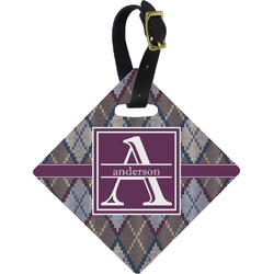 Knit Argyle Diamond Luggage Tag (Personalized)