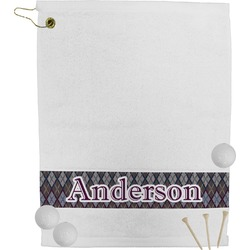 Knit Argyle Golf Towel (Personalized)
