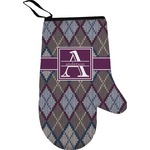 Knit Argyle Right Oven Mitt (Personalized)