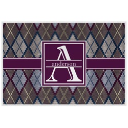 Knit Argyle Placemat (Laminated) (Personalized)