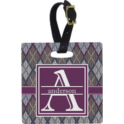 Knit Argyle Luggage Tags (Personalized)