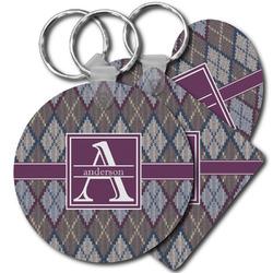 Knit Argyle Plastic Keychains (Personalized)