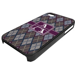 Knit Argyle Plastic 4/4S iPhone Case (Personalized)