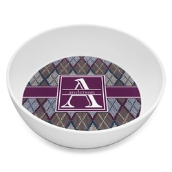 Knit Argyle Melamine Bowl 8oz (Personalized)