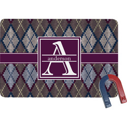 Knit Argyle Rectangular Fridge Magnet (Personalized)