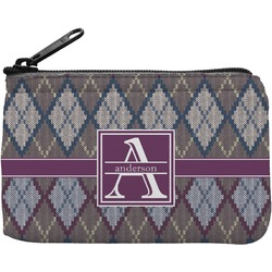 Knit Argyle Rectangular Coin Purse (Personalized)