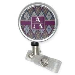 Knit Argyle Retractable Badge Reel (Personalized)