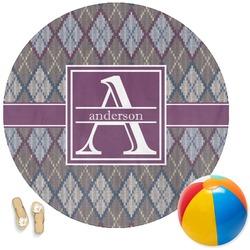 Knit Argyle Round Beach Towel (Personalized)
