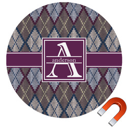 Knit Argyle Car Magnet (Personalized)