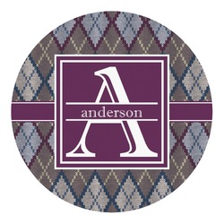 Knit Argyle Round Decal (Personalized)