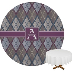 Knit Argyle Round Tablecloth (Personalized)