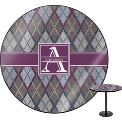 Knit Argyle Round Table (Personalized)