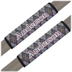 Knit Argyle Seat Belt Covers (Set of 2) (Personalized)
