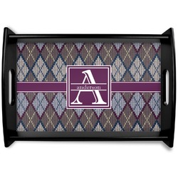 Knit Argyle Wooden Trays (Personalized)