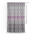 Knit Argyle Sheer Curtains (Personalized)