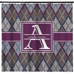 Knit Argyle Shower Curtain (Personalized)