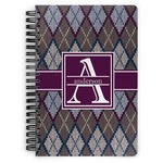 Knit Argyle Spiral Bound Notebook (Personalized)