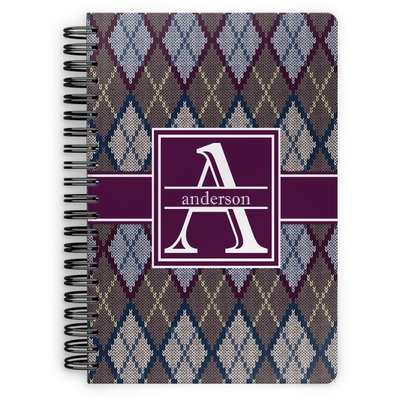Knit Argyle Spiral Bound Notebook (Personalized)