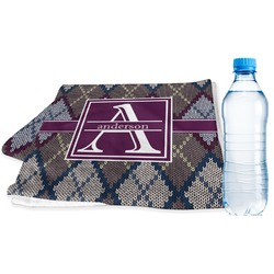 Knit Argyle Sports Towel (Personalized)