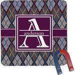 Knit Argyle Square Fridge Magnet (Personalized)