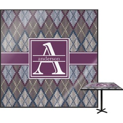 Knit Argyle Square Table Top (Personalized)