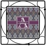 Knit Argyle Square Trivet (Personalized)
