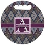 Knit Argyle Stadium Cushion (Round) (Personalized)