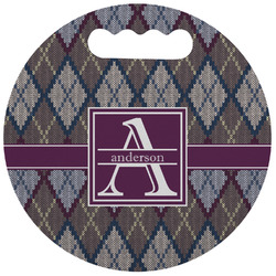 Knit Argyle Stadium Cushion (Round) (Personalized)