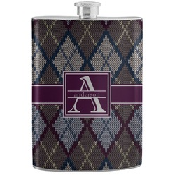 Knit Argyle Stainless Steel Flask (Personalized)
