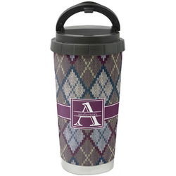 Knit Argyle Stainless Steel Travel Mug (Personalized)