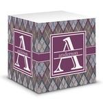 Knit Argyle Sticky Note Cube (Personalized)