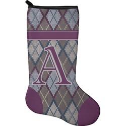 Knit Argyle Christmas Stocking - Neoprene (Personalized)