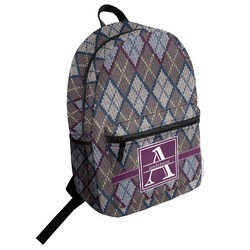 Knit Argyle Student Backpack (Personalized)