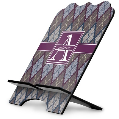 Knit Argyle Stylized Tablet Stand (Personalized)
