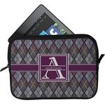 Knit Argyle Tablet Case / Sleeve (Personalized)