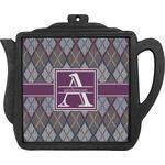 Knit Argyle Teapot Trivet (Personalized)