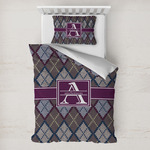 Knit Argyle Toddler Bedding w/ Name and Initial